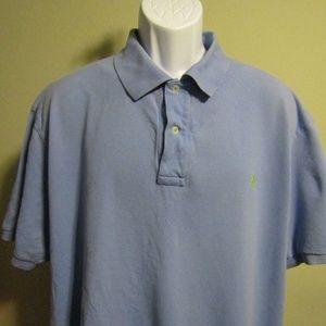 Ralph Lauren Polo Blue Sz 2XB Green Collar Shirt